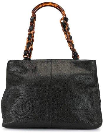 Chanel Pre Owned 1998 CC logo plastic chain tote bag