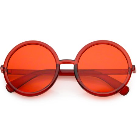 Large Retro Round Circle 1970's Fashion Sunglasses - zeroUV