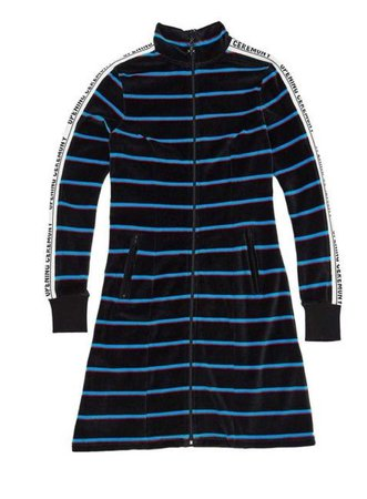 Opening Ceremony Striped Velour Track Dress