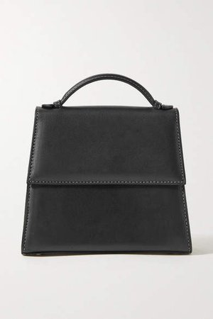 Small Leather Tote - Black