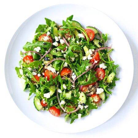 Arugula Greek Salad with Quinoa   Produce Made Simple