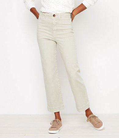 Petite Slim Wide Leg Jeans
