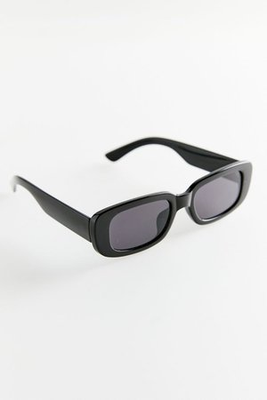 Ruby Plastic Rectangle Sunglasses | Urban Outfitters