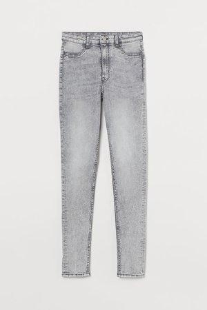 Super Skinny High Jeans - Gray