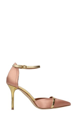 Malone Souliers Booboo Pumps In Rose-pink Satin