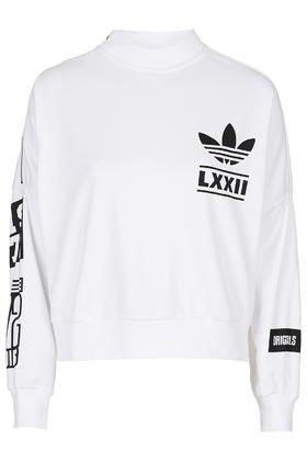 Topshop White Berlin Trefoil Sweatshirt