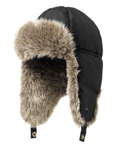 down aviator hat