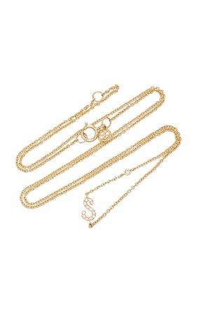 14K Gold Diamond Initial Necklace by Sydney Evan