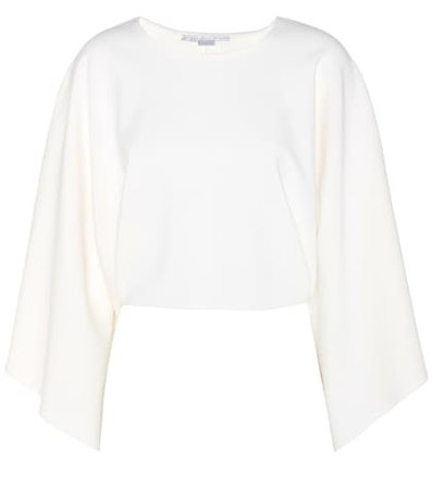 Long-sleeved cropped top