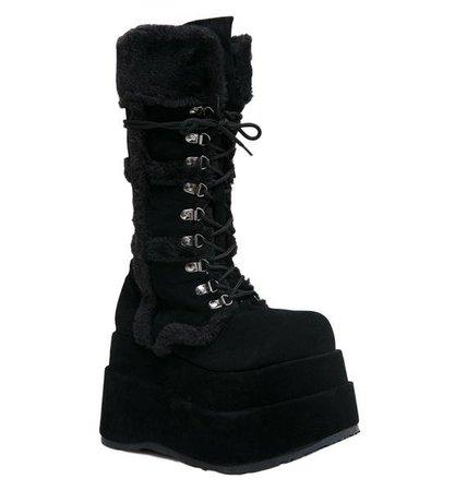 Demonia Full Of Fury Platform Boots