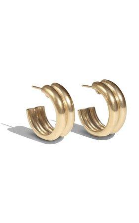 Varro Gold-Plated Hoop Earrings by Young Frankk | Moda Operandi