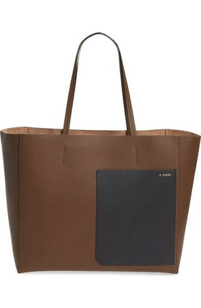 Valextra Leather Tote   Nordstrom