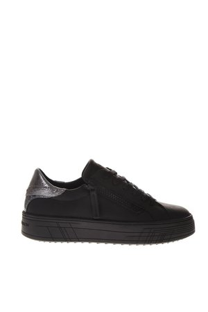 Crime london Krazy Black Leather Sneakers