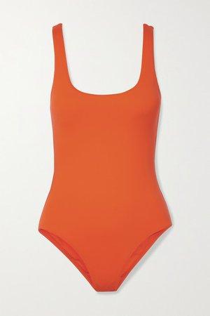 Nice Lace-up Swimsuit - Bright orange