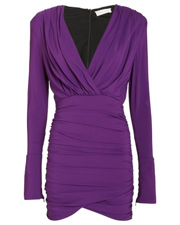 Ronny Kobo | Mariana Draped Jersey Mini Dress | INTERMIX®