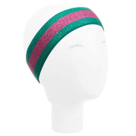 Gucci - Girls Green & Pink Headband   Childrensalon