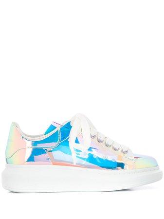 Alexander McQueen Zapatillas Con Suela Gruesa y Efecto Holográfico - Farfetch