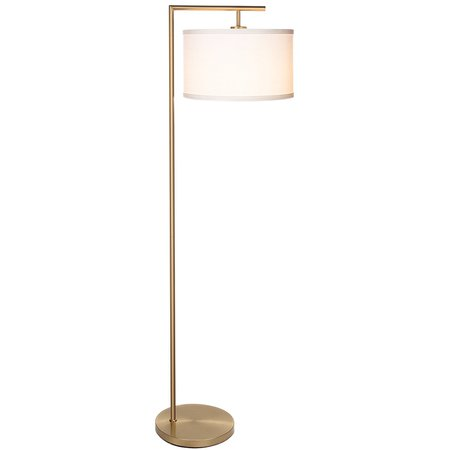 Brightech Montage Modern LED Floor Lamp with Hanging Lamp Shade - Tall Industrial Downlight Lamp for Living Room, Family Room, Office or Bedroom, Energy Saving and Long Lasting - Antique Brass - - Amazon.com