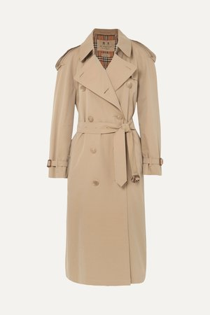 Beige The Westminster Long cotton-gabardine trench coat | Burberry | NET-A-PORTER