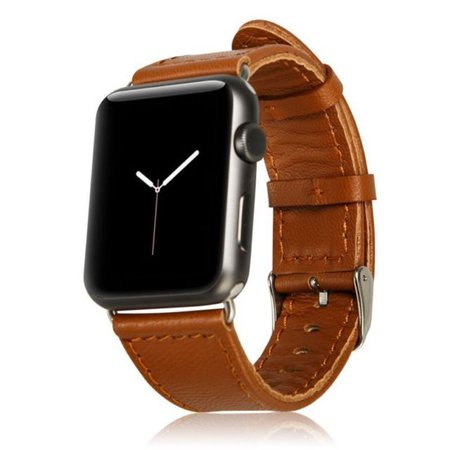 Buy Brown Leather Mesh XL Wristband Band Strap for iWatch 42mm Apple Watch online | eBay