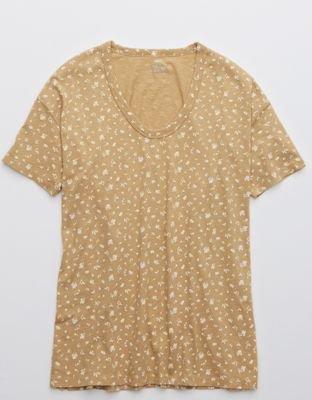 Aerie Boyfriend Voop Oversized T-Shirt brown