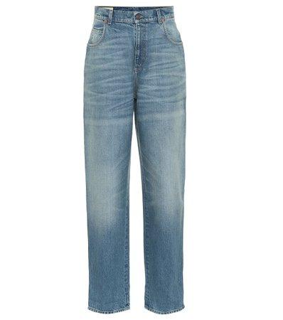 Gucci - High-rise wide-leg jeans | Mytheresa