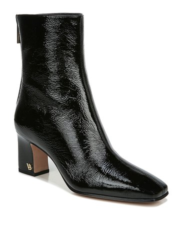 Veronica Beard Bruna Patent Zip Booties | Neiman Marcus