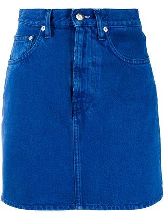 Helmut Lang High-Rise Denim Mini Skirt J10DW302 Blue | Farfetch