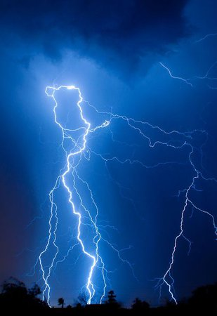 dark blue aesthetic lightning storm