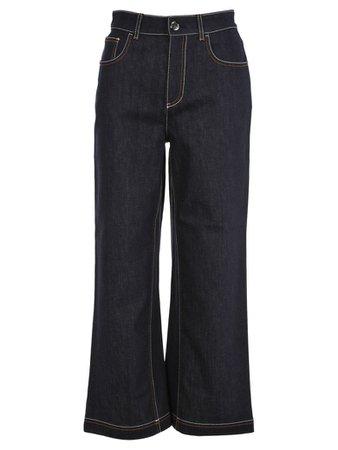 Fendi Fendi Fendi Flared Cropped Jeans - BLUE - 10960458 | italist