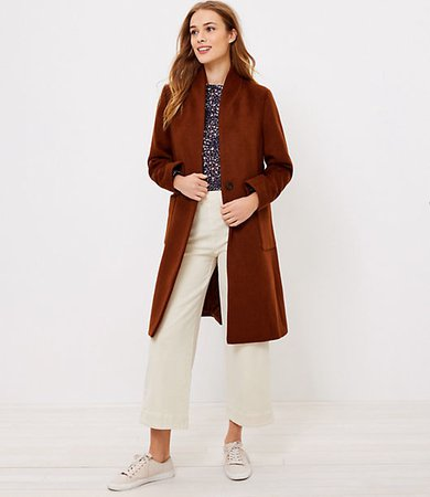 Petite Shawl Collar Coat