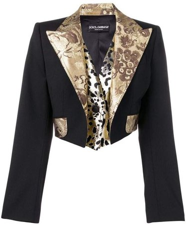 Dolce & Gabbana cropped blazer Farfetch