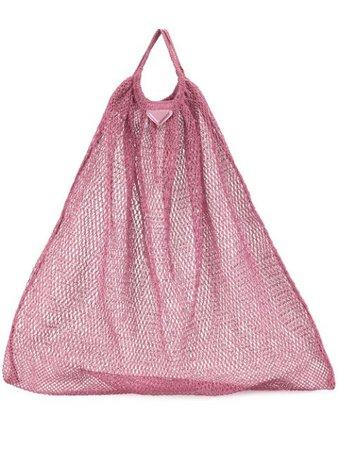 Prada Pre-Owned mesh tote bag pink 1913 - Farfetch