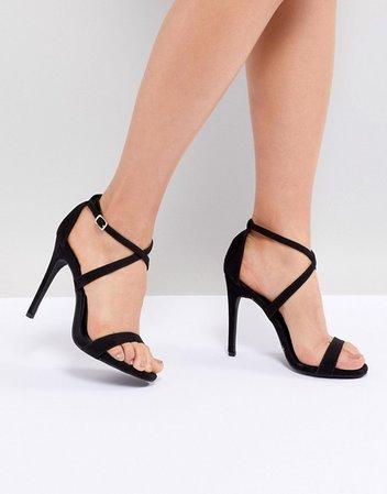 New Look | New Look Cross Strap Heeled Sandal