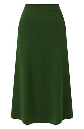 Женская зеленая кашемировая юбка LORO PIANA — купить за 123000 руб. в интернет-магазине ЦУМ, арт. FAI8517