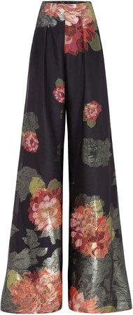 Raisa Vanessa Floral-Printed Cady Flared Pants
