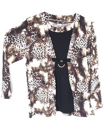 Blusa señora animal print leopardo