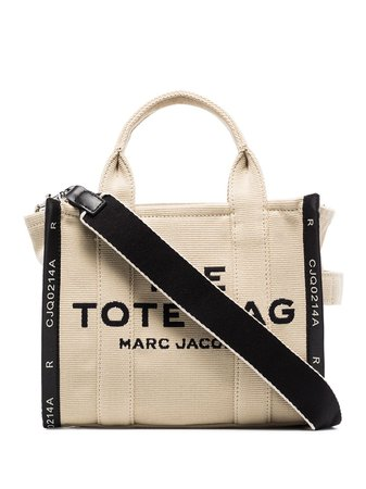 Shop Marc Jacobs The Mini Traveller logo-print tote bag with Express Delivery - Farfetch
