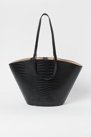 Shopper with Clutch Bag - Black