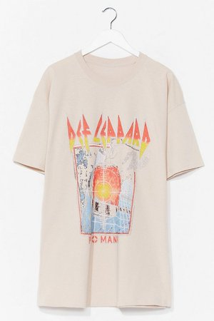 Def Leppard License T-Shirt Dress | Nasty Gal