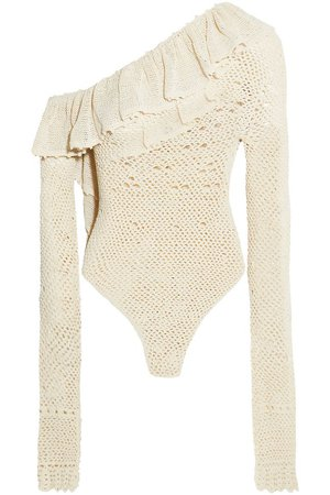 Natal one-shoulder crocheted cotton-blend bodysuit | MAGDA BUTRYM | Sale up to 70% off | THE OUTNET