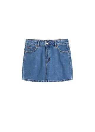MANGO Denim miniskirt