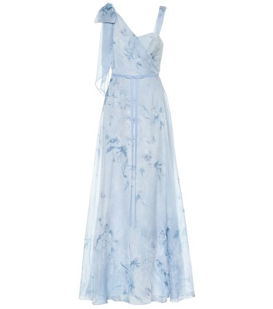 MARCHESA NOTTE Floral chiffon gown