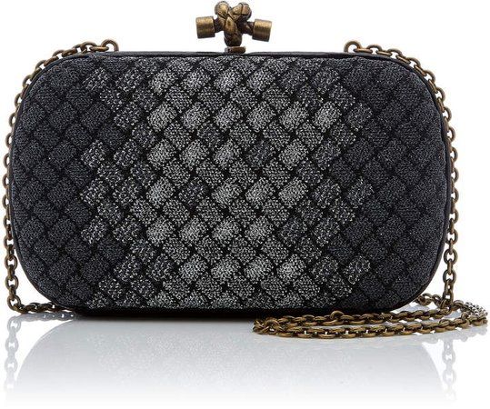 Knitted Intrecciato Clutch
