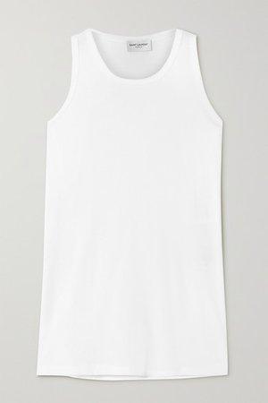 Cotton-jersey Tank - White