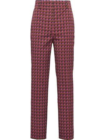 Prada Geometric Print Tailored Trousers - Farfetch