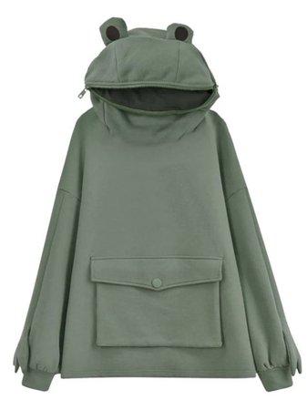 modokawa frog hoodie
