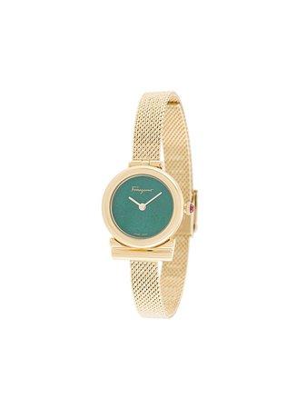 Gold Salvatore Ferragamo Watches Gancini Quartz Watch For Women | Farfetch.com