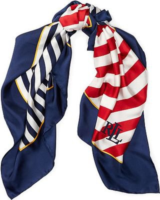 red white and blue stripe silk scarf - Google Search
