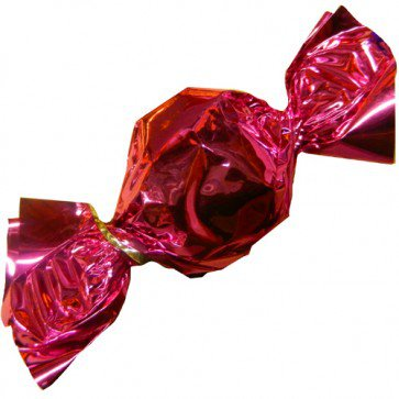 Pink Foil Wrapped Hard Candy | Groovycandies.com Online Candy Store